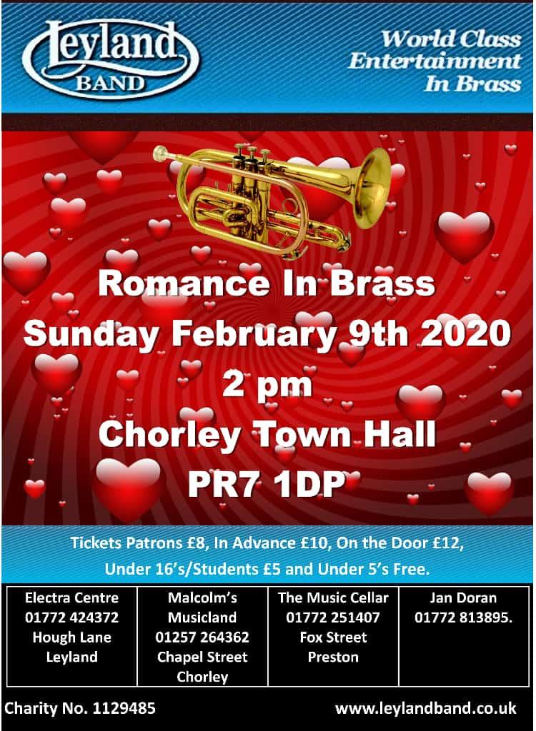 Romance in Brass @ Lancastrian Suite, Chorley Town Hall