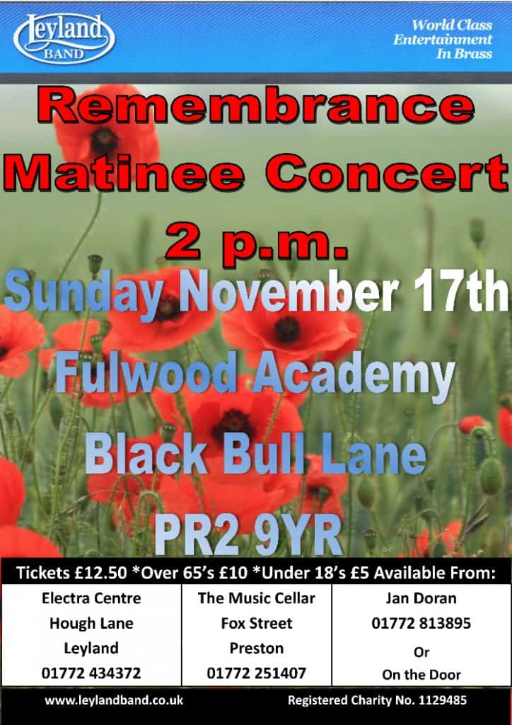 A Matinee for Remembrance @ Fulwood Academy, Preston